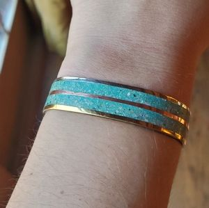 Jewelry - *RARE* Vintage Mexican Turquoise Cuff Bracelet